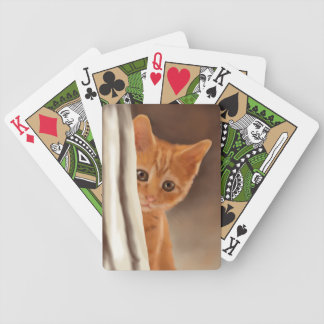Fluffy Ginger Kitten Bicycle Playing Cards