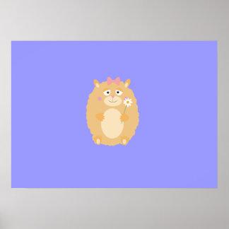 Fluffy Hamster Poster