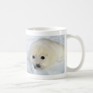 Fluffy Harp Seal Pup Coffee Mug