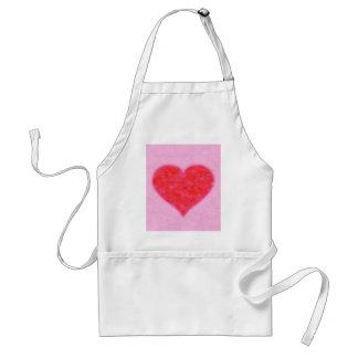 fluffy heart adult apron