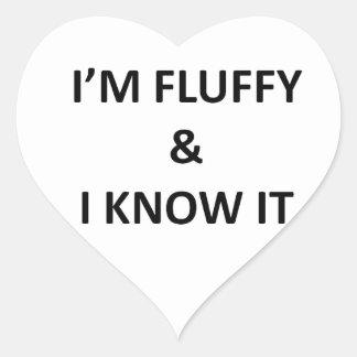 Fluffy Heart Sticker