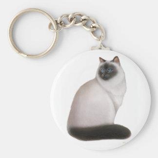 Fluffy Himalayan Cat Keychain