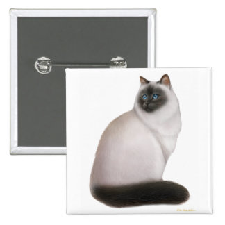 Fluffy Himalayan Cat Pin
