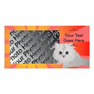 Fluffy Kitten Photo Card