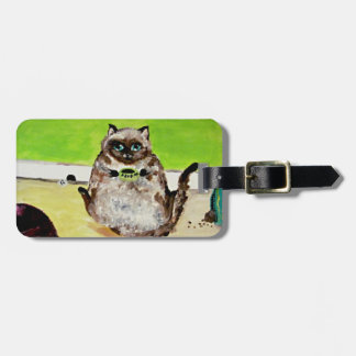 Fluffy Kitty/Feed Me- Luggage Tag