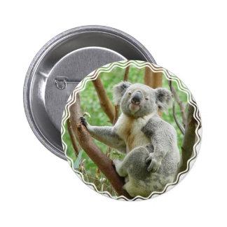 Fluffy Koala  Button