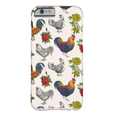 Fluffy Layers Hens, Roosters And Roses Phone Case at Zazzle