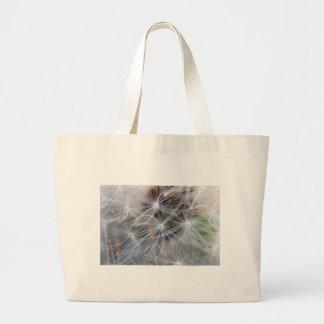 Fluffy (Parachute) Dandelion Seeds Large Tote Bag