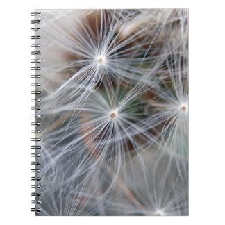 Fluffy (Parachute) Dandelion Seeds Notebook