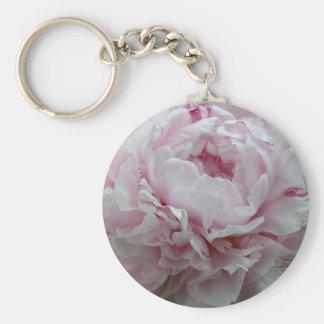 Fluffy Pink Peony Keychain