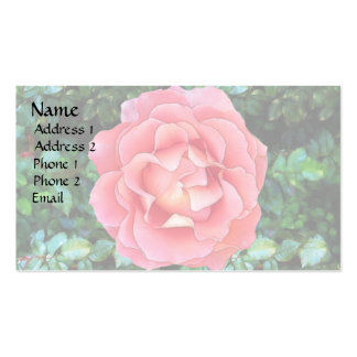 Fluffy Pink Rose Double-Sided Standard Business Cards (Pack Of 100)