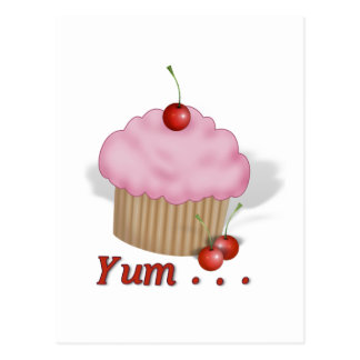 Fluffy Pink Yum! Postcard