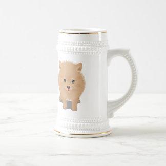 Fluffy Pomeranian Beer Stein