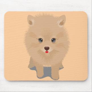 Fluffy Pomeranian Mouse Pad