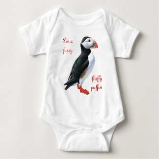 Fluffy Puffin Baby Bodysuit