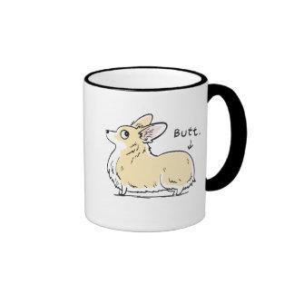 Fluffy Red/White Pembroke Corgi Butt Mug