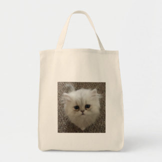 Fluffy Sasquach looking kitty with cute expression Tote Bag