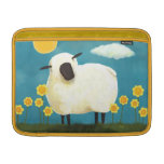 Fluffy Sheep and Yellow Flowers Art Sleeve For MacBook Air