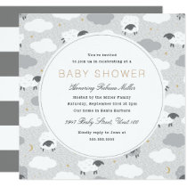Fluffy Sheep Baby Shower Invitation