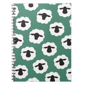 Fluffy Sheep Crafts Pattern Spiral Notebook