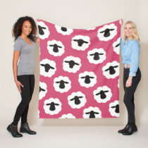 Fluffy Sheep Fiber Love Knit Crochet Fleece Blanket