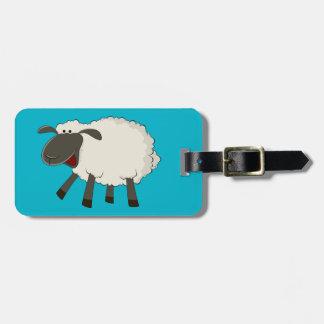 Fluffy Sheep luggage tag