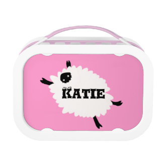 Fluffy Sheep Lunchbox Pink