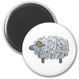 Fluffy Sheep Magnet
