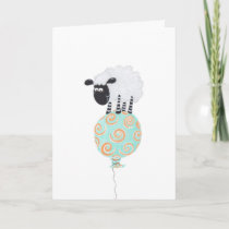 fluffy sheep on swirly balloon card