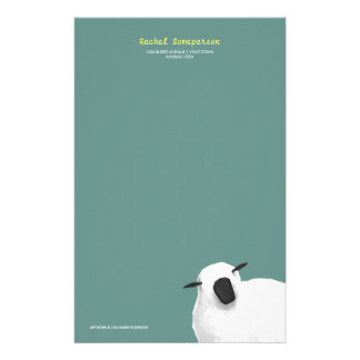 Fluffy Sheep Personalizable Stationery