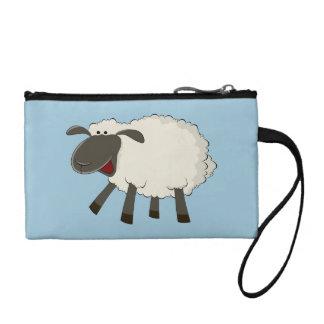 Fluffy Sheep wristlet