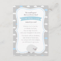 Fluffy Sheep (Yellow & Blue) Book Request Enclosure Card