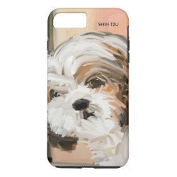 Case-Mate Tough iPhone 7 Plus Case with Shih Tzu Phone Cases design