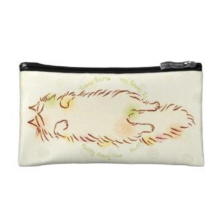 Fluffy Sleepy Cat Makeup Bag