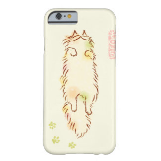 Fluffy Sleepy Cat Barely There iPhone 6 Case