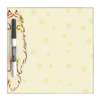 Fluffy Sleepy Cat Dry Erase Board