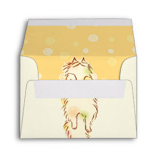 Fluffy Sleepy Cat Envelope