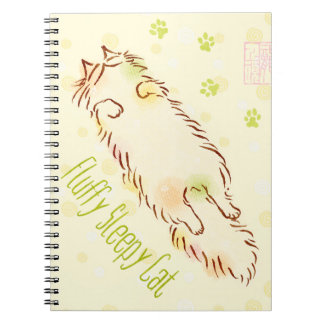 Fluffy Sleepy Cat Notebook
