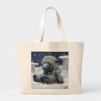 Fluffy Snow Monster Tote Bag