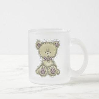 Fluffy Teddy Frosted Glass Coffee Mug