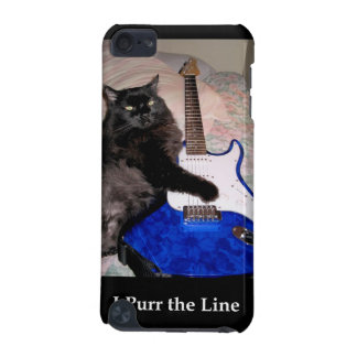 Fluffy the Cat in Black Speck Case