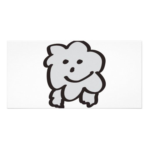 fluffy the sheep photo card template