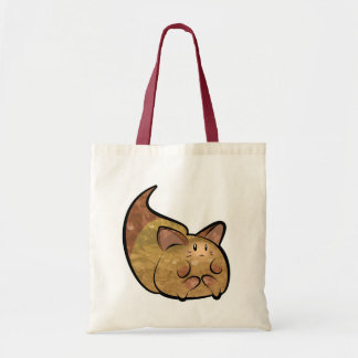 Fluffy Toon Kitty Budget Tote Tote Bags