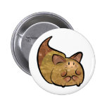 Fluffy Toon Kitty button Pins
