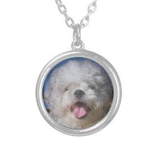 Fluffy Uncut Poodle Dog Necklace