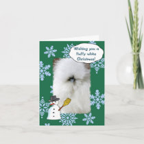 Fluffy White Christmas Holiday Card