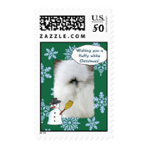 Fluffy White Christmas Postage