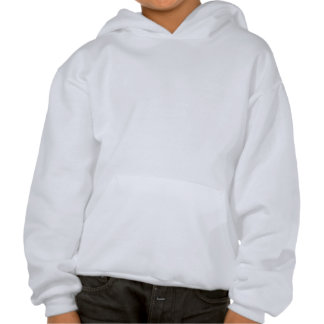 Fluffy white cloud on deep blue sky hooded pullover