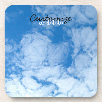 Fluffy White Clouds; Customizable Drink Coaster