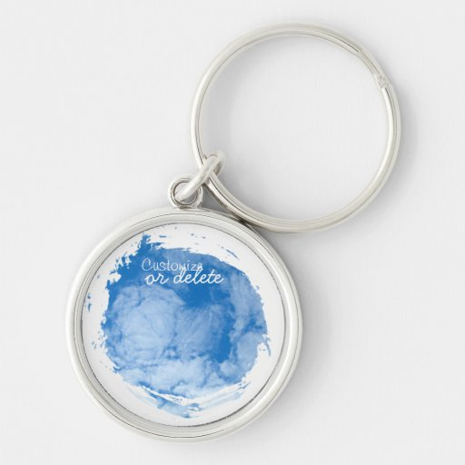 Fluffy White Clouds; Customizable Keychain